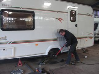 Caravan Chassis Servicing